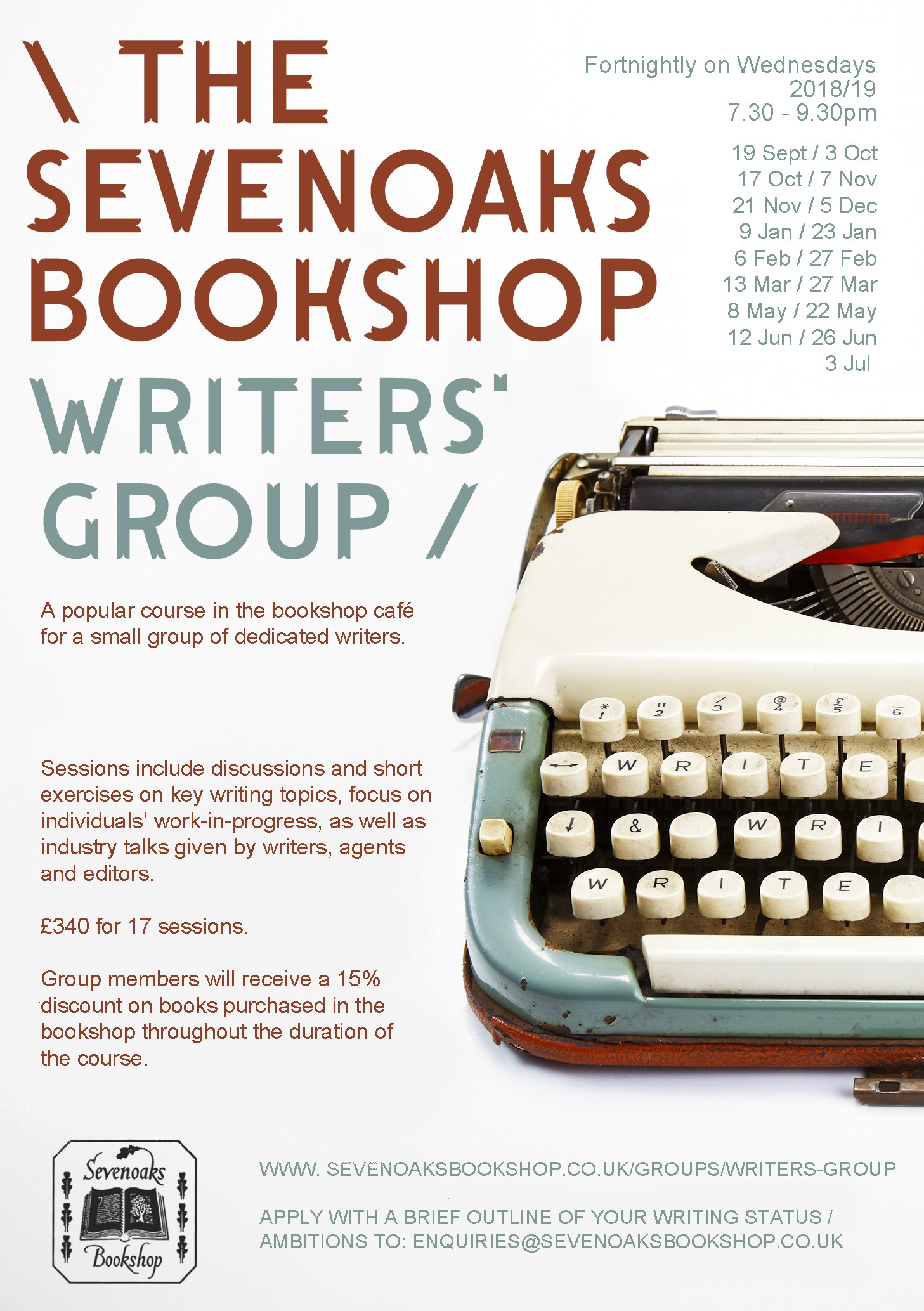 Writers' Group Programme 2018