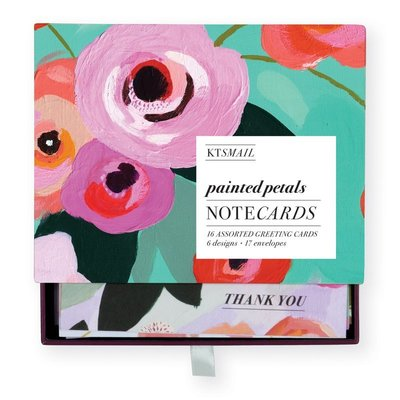 Painted Petals Greeting Assortment Boxed Notecards by Katy Smail