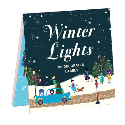 Winter Lights Book Of Labels by  ,