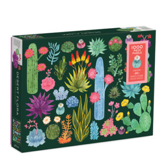 Desert Flora 1000 Piece Puzzle with Shaped Pieces by  Galison