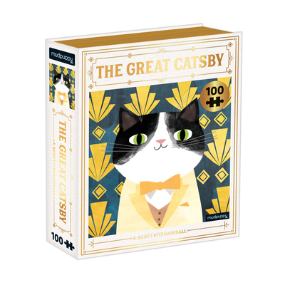 The Great Catsby Bookish Cats 100 Piece Puzzle by  Mudpuppy