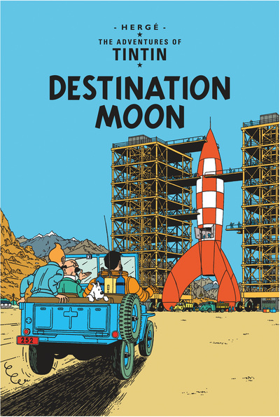 Tintin Destination Moon by  Herge