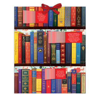 Festive Bookshelf Advent Calendar by  Galison