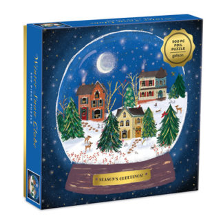 Winter Snow Globe 500 Piece Puzzle by  Galison