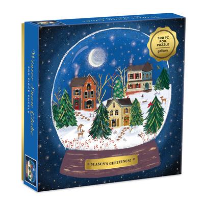 Winter Snow Globe 500 Piece Puzzle by  Galison