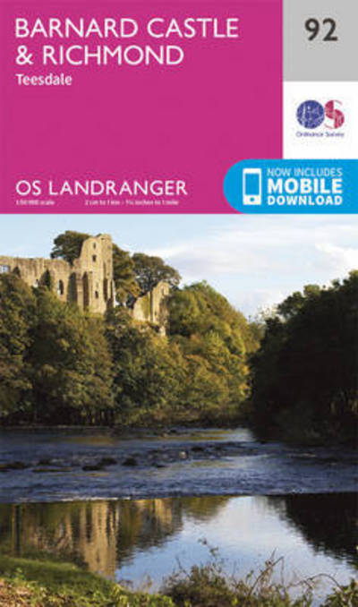 Barnard Castle and Surrounding Area by Survey Ordnance