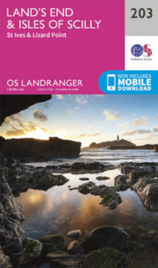 LR 203 Land's End & Isles of Scilly, St Ives & Lizard Point by