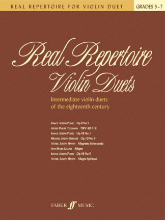 Real Repertoire for Violin Duets by