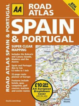 AA Road Atlas Spain and Portugal by