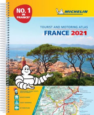France 2021 - A4 Tourist & Motoring Atlas by