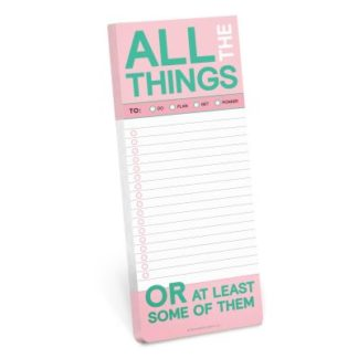 Knock Knock All The Things Make-a-List Pads by Knock Knock