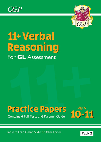 New 11+ GL Verbal Reasoning Practice Papers: Ages 10-11 - Pack 2 (with Parents'  by Books CGP